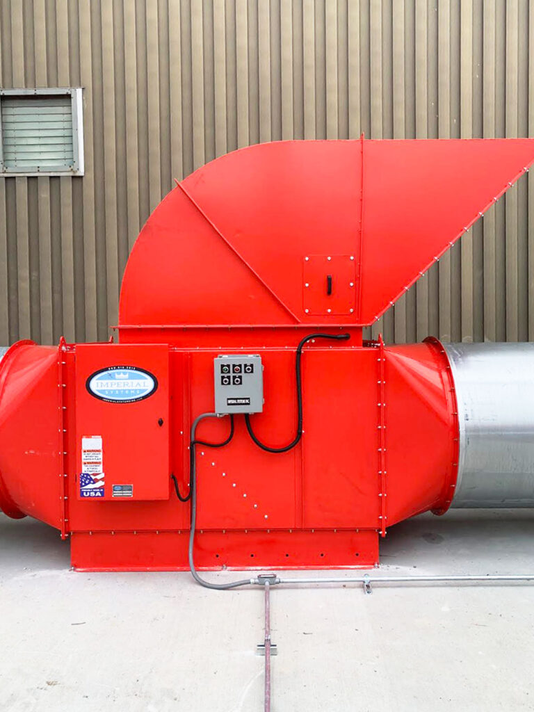 combustible dust fans